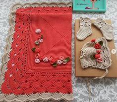 Baby Blanket Crochet, Crochet Baby, Free Crochet, Knit Crochet, Handmade Baby Blankets, Baby Cocoon, Lace Border, Pretty Patterns, Double Crochet
