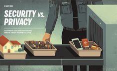 Davide Bonazzi - Security vs. privacy. Client: Indiana University magazine. #conceptual #illustration #editorial