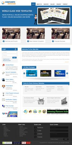 this website layout design for demo template for Corporate Infocom. I work on layout designing photoshop
