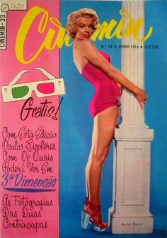 Cinemin - June 1954, magazine from Argentina. Front cover photo of Marilyn Monroe by Nick de Morgoli, 1954.