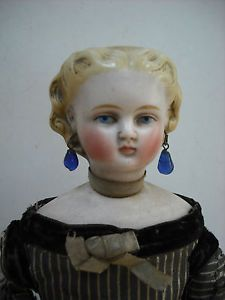 Beautiful RARE Antique Swivel Neck Parian Type Doll Bow in Hair | eBay