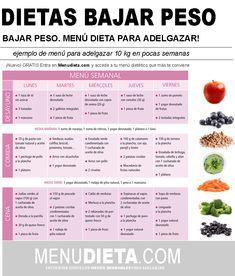 31 Ideas De Menus Dietas Para Adelgazar Te Para Bajar De Peso Dietas