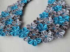 Kanzashi flowers collar by Ukrainian0kanzashi