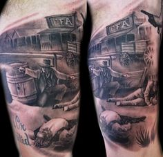 western Tattoo | ... - Worlds Best Tattoos : Tattoos : Luca Natalini : western shootout