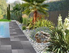 Faire un jardin autour d'une piscine, planter les abords d'une piscine enterrée