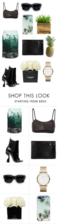 """""""Untitled #51"""" by jadetuncdoruk ❤ liked on Polyvore featuring Dries Van Noten, Tess Giberson, Balenciaga, Yves Saint Laurent, Acne Studios, Marc by Marc Jacobs, Hervé Gambs and Chanel"""