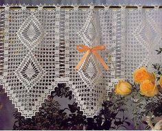 Patrones primaverales para cortinas a crochet - Las Manualidades