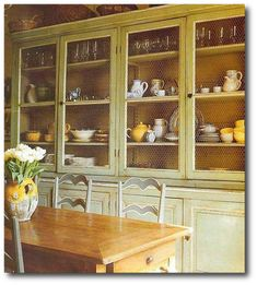Painted Hutch Featured in French Country Living by Caroline Clifton-Mogg Country Painting, Low VOC Paint, Chalk Paint, Milk Paint, Country S...