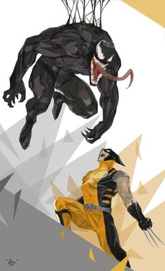 Venom vs Wolverine  Illustration by Eepmun