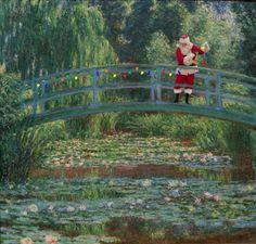 Santa invades 24 classic paintings