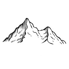 mountain drawing line range sketch pen simple easy drawings tattoo geometric link pencil moutain sketches redbubble mack sophia