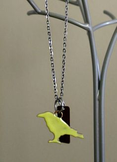 Painted Bird Charm Necklace