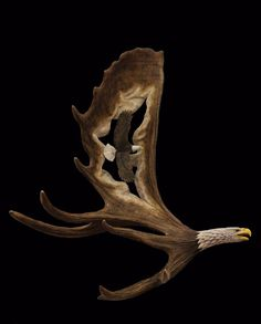 "Ben's 2013 ""Flying Eagles"" moose antler carving"