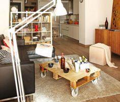 Homestyle: A arte de reaproveitarPalete vira mesa de centro
