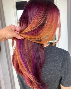 Ideas hair color ombre purple magenta - All For Hair Color Balayage Vivid Hair Color, Hair Dye Colors, Ombre Hair Color, Cool Hair Color, 2 Tone Hair Color, Red Purple Hair, Purple Hair Highlights, Mixed Hair, New Hair