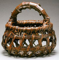 HAYAKAWA SHOKOSAI III, (1864-1922; Osaka); basket with bamboo root handle, dated 1917 (Taisho era). | Lloyd Cotsen Japanese Bamboo Basket Collection at Asian Art Museum of ...