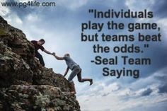 Check out these other amazing #quotes about the power of #teamwork Picture Quote of Navy Seal Saying.
