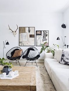 Un salon très cosy où on mélange les styles