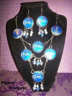 'Bud Light Bottle Cap Necklace' is going up for auction at  9pm Wed, Jul 11 with a starting bid of $3.