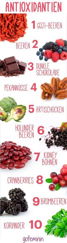 In welchen Lebensmitteln stecken die meisten Antioxidantien? Sie helfen gegen Falten und Hautalterung!