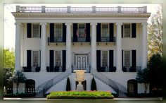 The President's Mansion, circa 1841  University of Alabama  an example of historic Southern architecture  Greek Revival neo-classical style of architecture