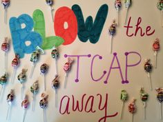 TCAP cheer poster to encourage class