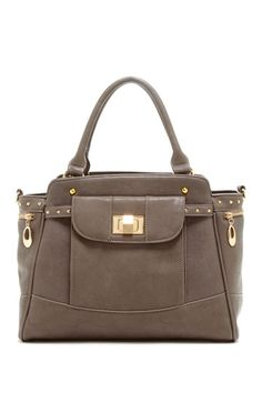 Segolene Paris Solid Turn-Lock Satchel by Handbags on @HauteLook