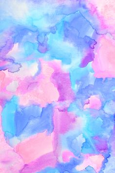 Celular watercolor rosa y azul