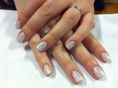 Brush up and Polish up!: CND Shellac Christmas Nail Art - #4 Iridescent Ice Queen