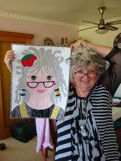 Gail with herself by mamacjt, via Flickr