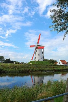 A windmill in Damme..., Belgium