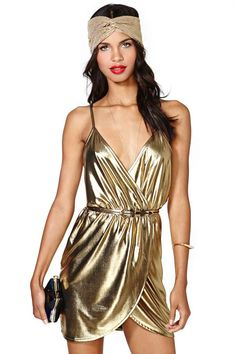 American Hustle party dress Gold+Rush+Dress