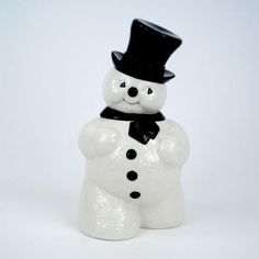 Retro Snowman Cookie Jar from TheHolidayBarn.com