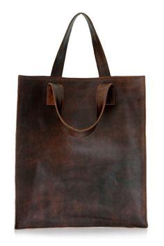 leather handbag - nice shape plus roomy - like the look of the leather