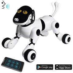 Puppy Smart Voice & App Controlled Kids Robot Dog Toy Interactive, Dances, Sings, Plays Music w/ Touch Motion Control for Boys & Girls, White Cool Toys For Girls, Best Kids Toys, Girls Toys, Dogs And Kids, Animals For Kids, Smart Dog Toys, Outdoor Dog Toys, Best Gifts For Tweens, Tween Girl Gifts
