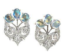 Tree of Life: Diamond Moonstone Earrings