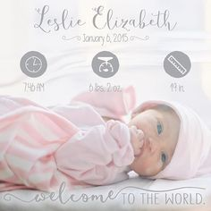 The sweetest birth announcement from @carrehgriffith. Welcome to the world, sweet girl! Download the Little Nugget®️ app to capture your pregnancy & baby milestones in a photo. Add personalized text & beautiful artwork to create birth announcements, pregnancy announcements, gender reveals, monthly baby photos, baby milestones & firsts, week by week pregnancy photos, weekly baby photos, & more. #birthannouncement #newborn #babyapp