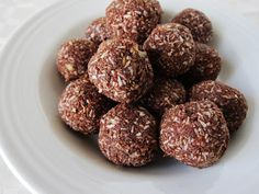 Raw German Chocolate Chia Energy Bites.  Yumm! Do not taste healthy at all. Very sticky and hard to process though.