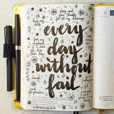 journal page idea... every day without fail