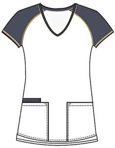 Buy Cherokee Runway Women's Pattern Play V-Neck Printed Scrub Top for $20.95