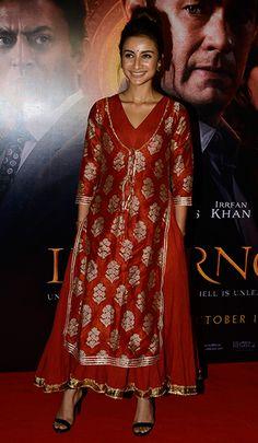 Patralekha in a layered dress by Khara Kapas.