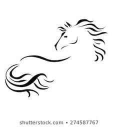 Similar Images, Stock Photos & Vectors of Vector silhouette of a horse's head - 645837871 Horse Drawings, Art Drawings, Horse Outline, Horse Stencil, Arte Tribal, Horse Logo, Horse Silhouette, Pet Rocks, Horse Head
