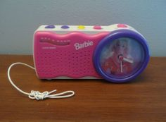 BARBIE PINK & PURPLE FM CLOCK  RADIO, 1995