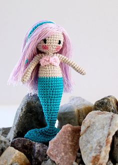 Amigurumi Mermaid Doll Waldorf Inspired by PinkMouseBoutique