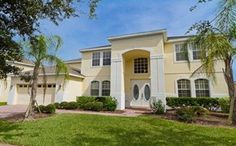 7 Bedroom 4500 sq ft Orlando Vacation Villa on Highlands Reserve, Large Private Pool Area with Golf Course View and Only 15 minutes from Disney Florida Villas, Vacation Villas, Vacation Rentals, House Paint Interior, Orlando Vacation, Lanai, Private Pool, Jacuzzi, Best Interior