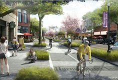Every design starts with a vision. The clearer the vision, the more precise the execution. Visualizations are a landscape architect's most powerful tool. Image: Rendering for proposed bike lane in Omaha. -The LA Team www.landarchs.com