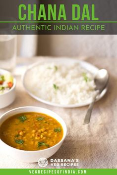 This chana dal recipe is made with an authentic Indian curry that is comforting filled with flavorful spices. #Indian #curry #chanadal #recipe Veg Recipes Of India, North Indian Recipes, Indian Food Recipes, Asian Recipes, Vegetarian Recipes, Cooking Recipes, Healthy Recipes, Ethnic Recipes, Restaurant Dishes