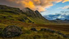 Sunset over mountains of The Strandir Coast, West Fjords, Iceland, 6d968bf8c4525d5ff4ea119c9e3a808f