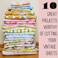 Yard Sale Decorating • Tips, Ideas & Tutorials! Including great crafty sheet ideas from 'modern kiddo'.