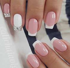 Nail Designs French Tip Picture the beautiful french tip nails designs are so perfect for Nail Designs French Tip. Here is Nail Designs French Tip Picture for you. Nail Designs French Tip the beautiful french tip nails designs are so perfec. Frensh Nails, Pink Nails, Hair And Nails, Manicures, Nails 2018, Toenails, Black Nails, Fancy Nails, Cute Nails
